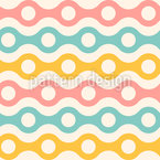 Summery Waves With Holes Seamless Vector Pattern Design