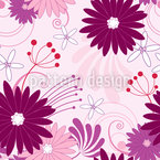 Floral Fantasy With Daisies Seamless Vector Pattern Design