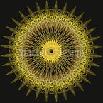 Goldenes Wagenrad Nahtloses Vektormuster