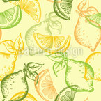 Lemons And Limes Seamless Vector Pattern Design