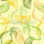 Zitronen Und Limetten Nahtloses Vektormuster