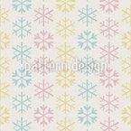 Flocos de Neve Pastel Design de padrão vetorial sem costura