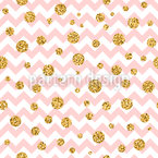 Zigzag With Glitter Seamless Vector Pattern Design