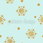 Golden Snow Seamless Vector Pattern Design