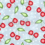 Süße Kirsche Nahtloses Vektormuster