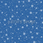Winter Snow Is Falling Seamless Vector Pattern Design