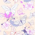Blüten Und Schmetterlinge Vektor Design