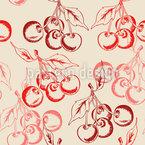 Süße Saftige Kirschen Muster Design