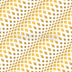 Diagonal Golden Waves Seamless Vector Pattern Design