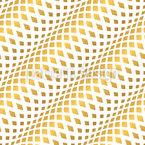 Diagonale Goldene Wellen Nahtloses Vektormuster
