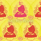 Buddha Meditation Seamless Vector Pattern Design