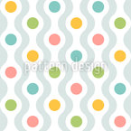 Waves And Dots Seamless Vector Pattern Design