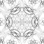Verbundene Blumenherzen Nahtloses Vektormuster