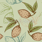 Almonds And Leaves Pattern Design