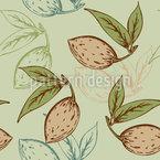 Mandeln Und Blätter Muster Design