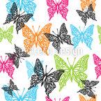 Wunderschöne Schmetterlinge Nahtloses Vektormuster