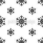 シンプルな雪 シームレスなベクトルパターン設計