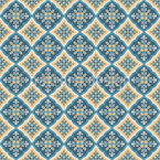 Portuguese Arabesques Seamless Vector Pattern