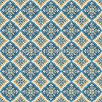 Arabescos Portugueses Design de padrão vetorial sem costura