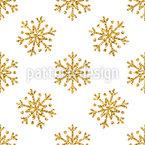 Glitter Snowflakes Seamless Vector Pattern Design