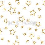 Golden Star Seamless Vector Pattern Design