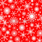 Festive Wintry Snowflakes Seamless Vector Pattern Design