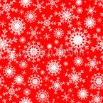 お祝いの冬雪の結晶 シームレスなベクトルパターン設計