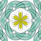 Folhas Sonhadoras Design de padrão vetorial sem costura
