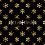 Dark Glitter Snowflakes Seamless Vector Pattern Design