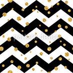 Polka Dots On Zigzag Seamless Vector Pattern Design