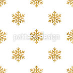 Noble Snowflake Repeating Pattern