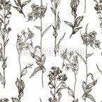 ビンテージ植物 シームレスなベクトルパターン設計