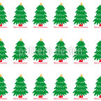 Christmas Tree Parade Seamless Vector Pattern Design