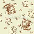 Coffee Party Seamless Vector Pattern Design