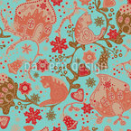 Gingerbread Garden Seamless Vector Pattern Design