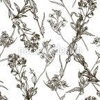 Flores e Plantas Vintage Design de padrão vetorial sem costura
