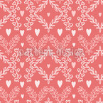 Flowers For Love Repeating Pattern