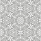 Monochrome Rosette Seamless Vector Pattern Design