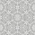 Monochrome Rosette Vector Ornament
