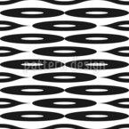 Ovais Longas Design de padrão vetorial sem costura