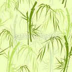 Ramos e folhas de bambu Design de padrão vetorial sem costura