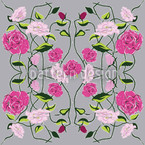 Snow-White And Rose-Red Seamless Vector Pattern Design