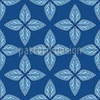 Géométrie fleurie Motif Vectoriel Sans Couture