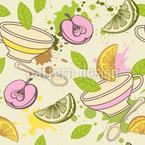 Fruit Tea Vector Ornament