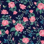 美しいバラ シームレスなベクトルパターン設計