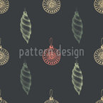 Vintage Christmas Tree Decorations Seamless Vector Pattern Design