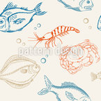 Sea Fish Vector Ornament