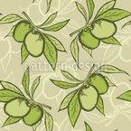 Kleine Olivenzweige Vektor Muster