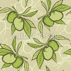 Little Olive Branches Seamless Vector Pattern Design