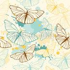 Schmetterlinge Und Farbkleckse Vektor Design